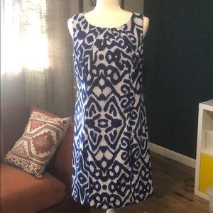 New with tags AB Studio ikat pattern dress